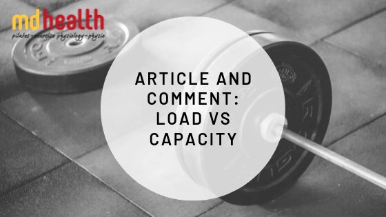 Article and Comment – Load Vs Capacity